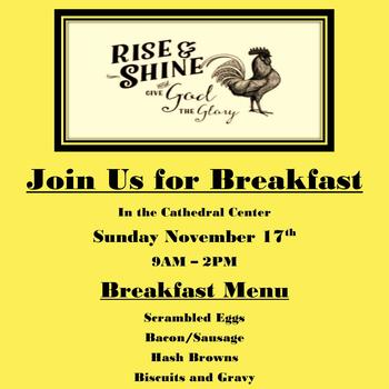 Rise & Shine! Join Us for Breakfast!!