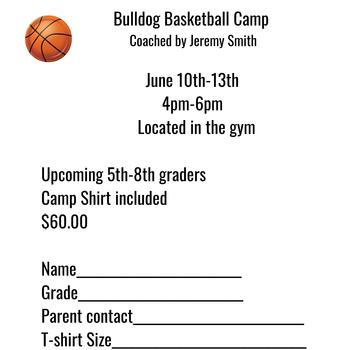 SACBS Bulldog Boys Basketball Camp