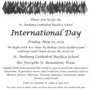 St. Anthony Cathedral Basilica School International Day