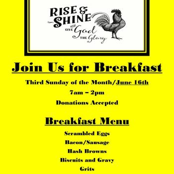 """Rise & Shine Breakfast"" Come On & Join Us!"