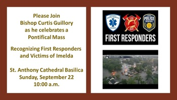 Pontifical Mass Recognizing Imelda First Responders & Victims