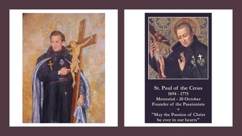 The Feast Day of St. Paul of the Cross