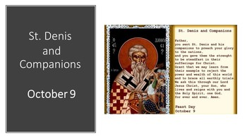 The Feast Day of St. Denis & Companions