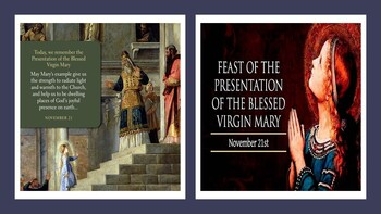 Feast Day of The Presentation of the Blessed Virgin Mary