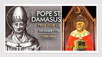 The Feast Day of St. Damasus I