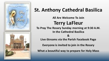 Sunday Morning Rosary Prayer with Terry LaFleur