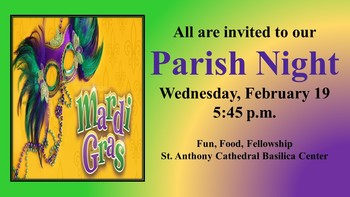 Parish Night...All Are Welcome!!