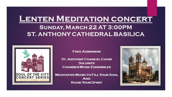Lenten Meditation Concert-Soul of the City Concert Series