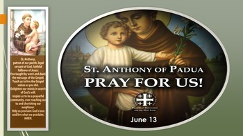 The Feast Day of St. Anthony of Padua