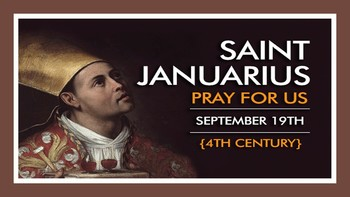 The Feast Day of St. Januarius