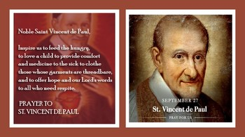 The Feast Day of St. Vincent dePaul