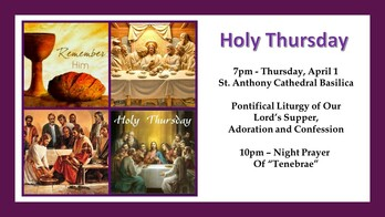 Holy Thursday-All Are Welcome!