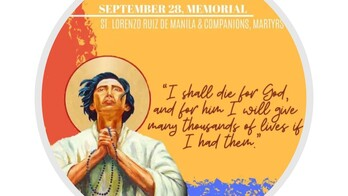 The Feast Day of St. Lawrence Ruiz & Companions