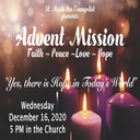 The Advent Mission is this week! December 16