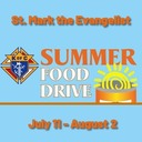 "Thank You for Your Continued Support of the ""K of C Summer Food Drive"""