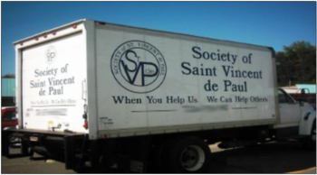 St. Vincent de Paul Donation Truck - Tuesday, July 14, 2020