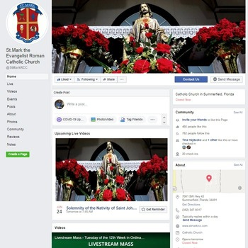 Using Facebook for the Livestream of Mass