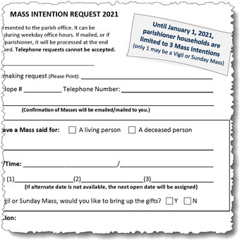 Mass Intentions and Sanctuary Lamps Available in January