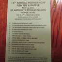 13th Annual Mothers' Day Fish Fry & Raffle