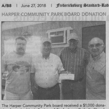 Donation to the Harper Community Park