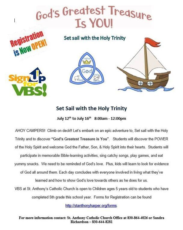 VBS Registration is now OPEN