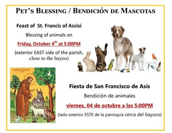 Pet's Blessing / Bendición de Mascotas