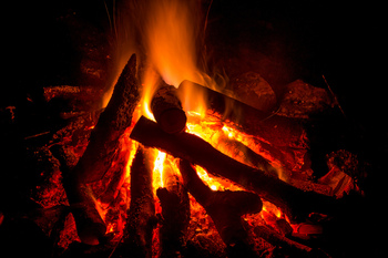Scriptural Rosary by the campfire