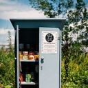 Blue Food Sharing Cabinet