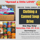 Clothing & Canned Soup Drive