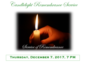 Candlelight Remembrance Srvc.