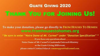 Guate Giving 2020: Thank you!