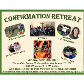Confirmation Retreat at Wethersfield