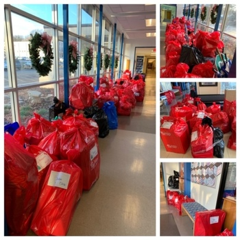 Students deliver Christmas joy with Red Bag Tradition