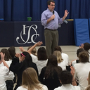 Children's Author Jordan Sonnenblick visits Immaculate Conception School