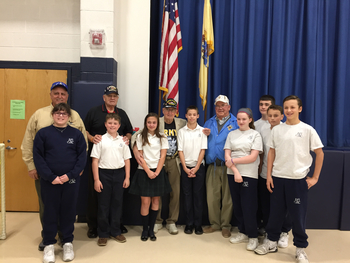 Members of the St. Sebastian Post 405 Catholic War Veterans Visit ICS