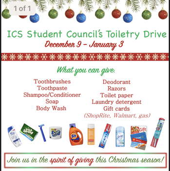 Toiletry Drive