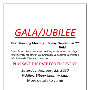 Jubilee (Gala) 1st Planning Meeting