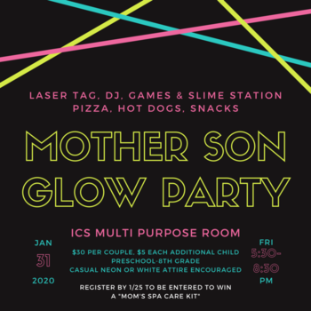 Mother-Son Glow Party