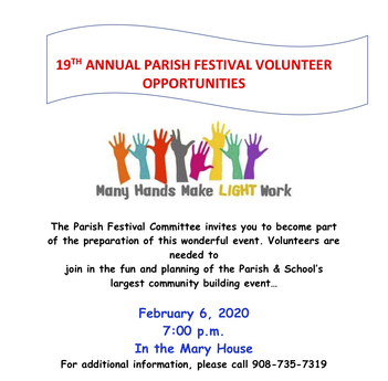 ICC Parish Festival Meeting