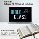 Bible Classes Return