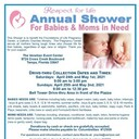 Respect for Life Annual Shower for Babies & Moms In Need