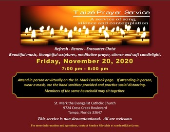 Candlelight Prayer Service in the Spirit of Taize