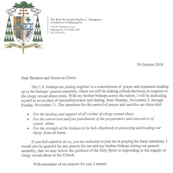 Letter from Archbishop Thompson