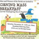 Annual Fall Thanksgiving Mass and Breakfast