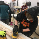 Confirmation candidates build beds for kids