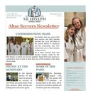 A newsletter created for Altar Servers