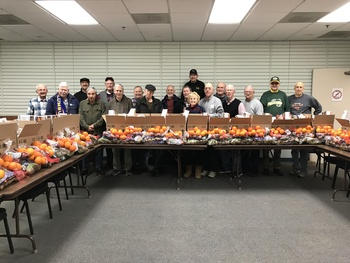 Knights of Columbus and Food Pantry Christmas Baskets