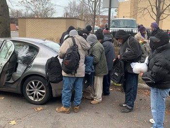Winter Clothing Drive for day laborers in Chicago sponsored by Seminarians