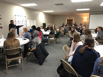 Kentucky priest meets the 2020 AMT group