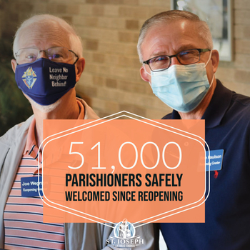 Greeter Ministry Welcomes Our 51,000th Guest Since Reopening